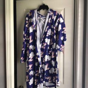 Purple Terrycloth Robe